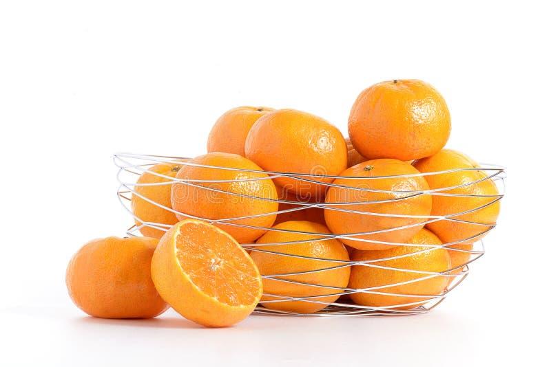 Orange korg arkivfoton
