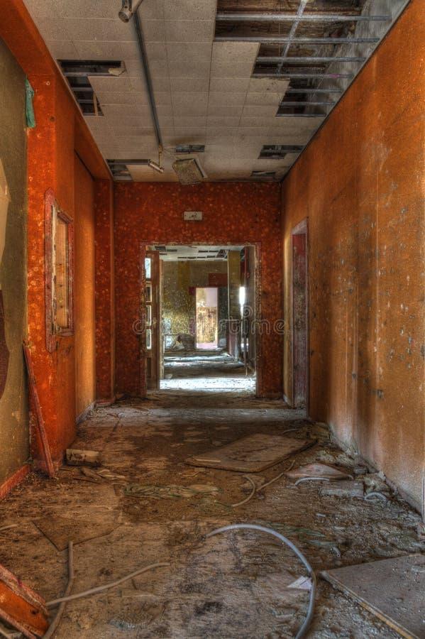 Orange korridor royaltyfri bild