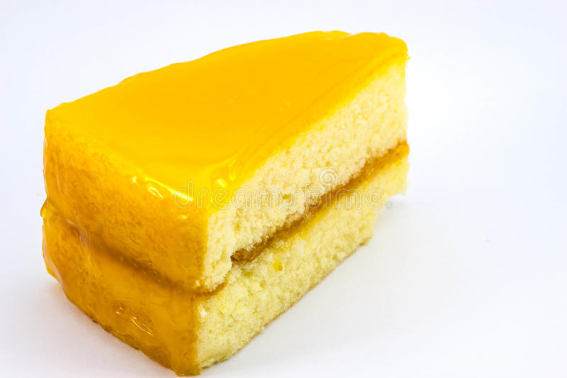 Orange Kuchen lizenzfreie stockbilder