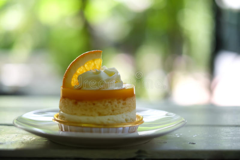 Orange Kuchen stockfoto