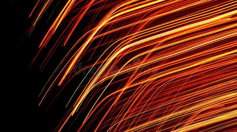 orange kulöra ljusa linjer royaltyfri illustrationer
