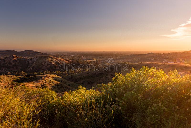 Orange län Santiago Oaks Regional Park royaltyfri foto
