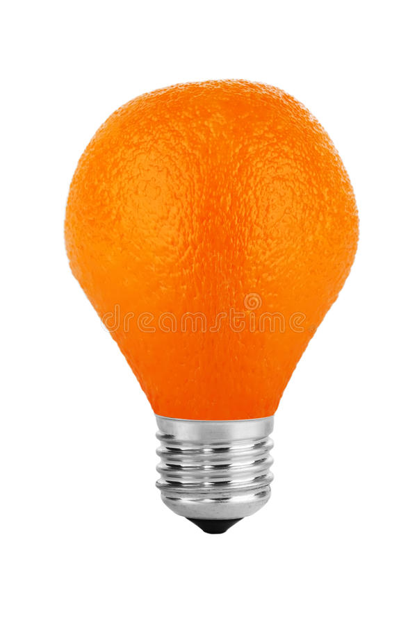 Orange Lampe stockfoto