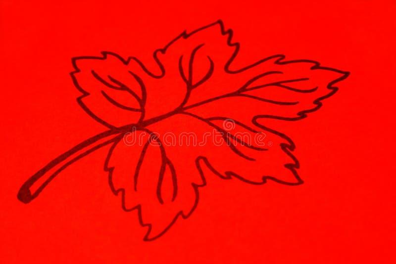 Download Orange Leaf Drawing Royalty Free Stock Photos - Image: 6955548