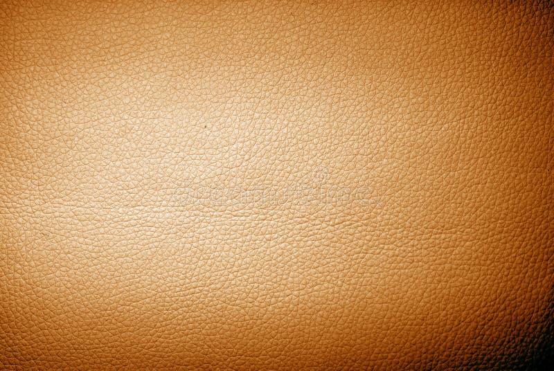 Orange leather. Background of vintage orange leather stock photo