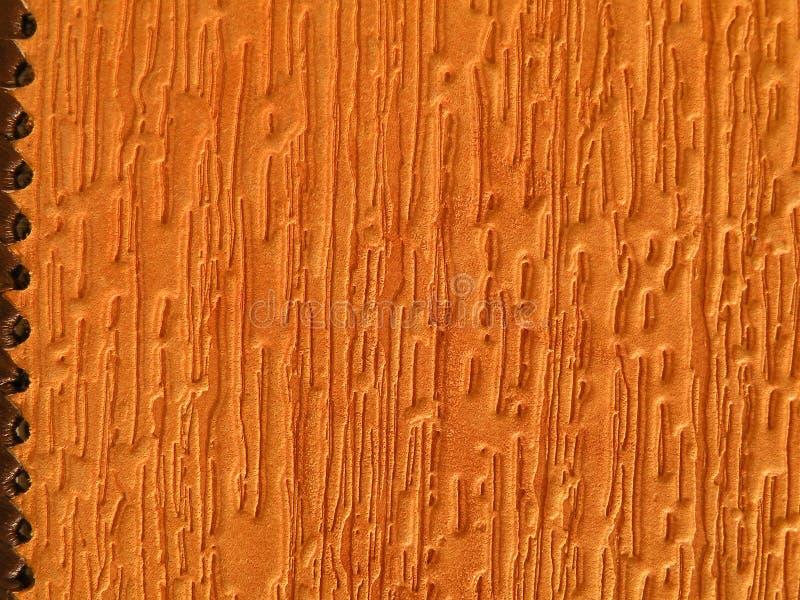 Orange leather texture stock photography