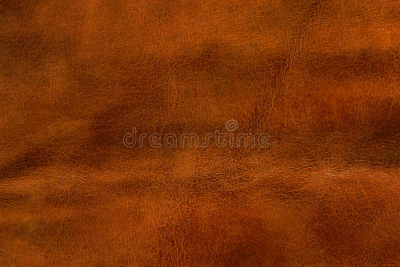 Orange leather texture, abstract background stock photo