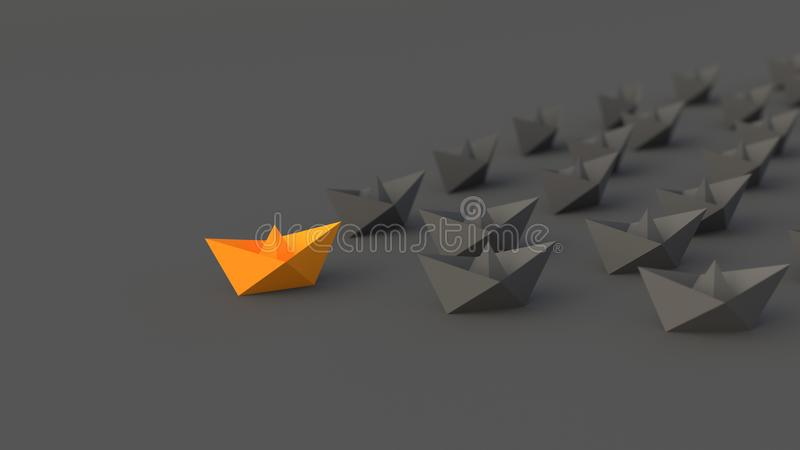 Orange ledarefartyg vektor illustrationer