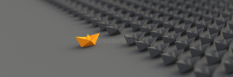 Orange ledarefartyg stock illustrationer