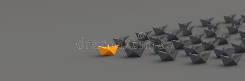 Orange ledarefartyg royaltyfri illustrationer
