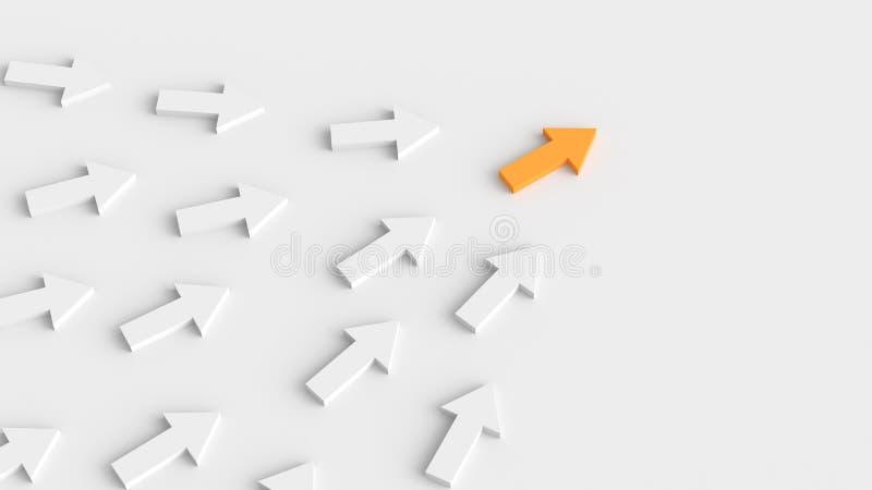 Orange ledarepil stock illustrationer