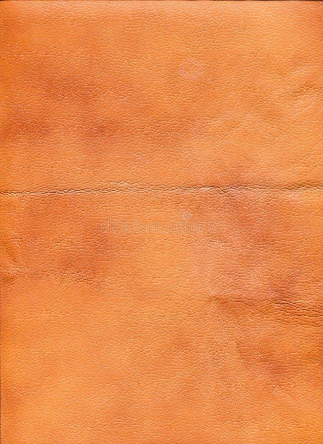 Orange Leder lizenzfreies stockfoto
