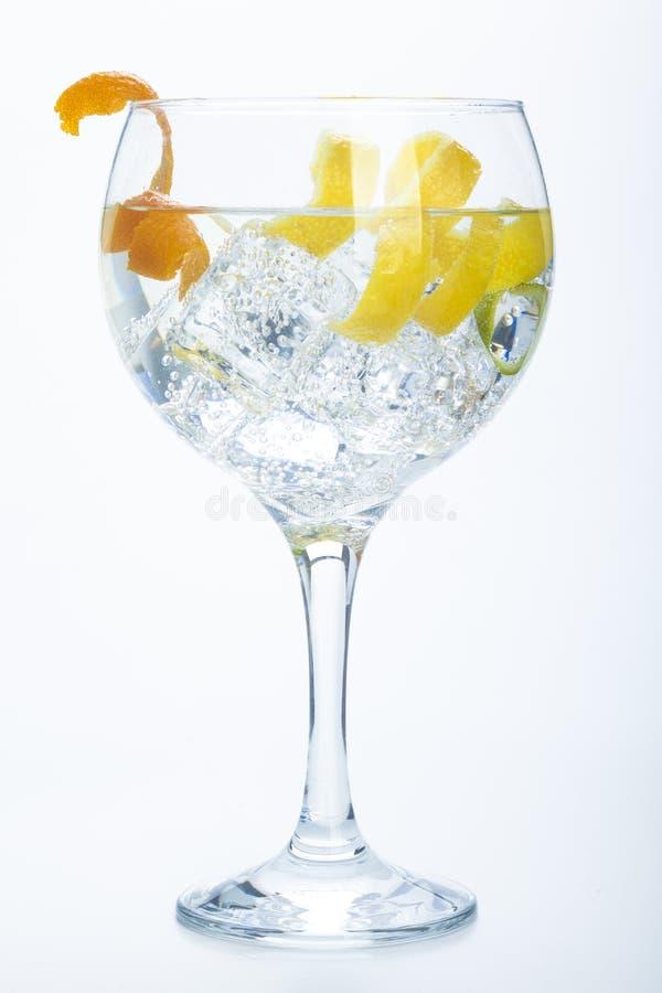 Free Orange Lemon And Lime Gin Tonic Isolated Over White Royalty Free Stock Photography - 36803717