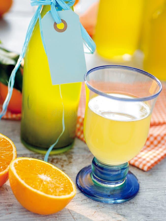 Orange lemonade royalty free stock image
