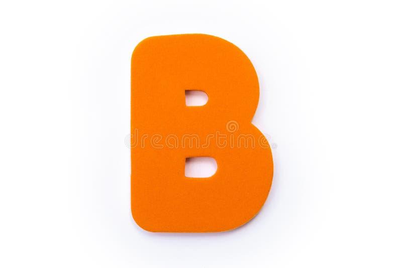 Orange Letter B royalty free stock photo