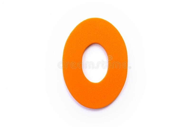 Orange Letter O. Over a white background stock photography
