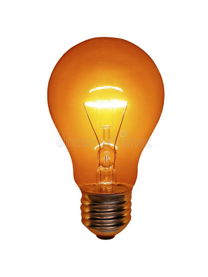 Orange Light Bulb stock photos
