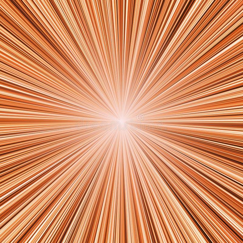 Download Orange light burst stock illustration. Illustration of deep - 15505497
