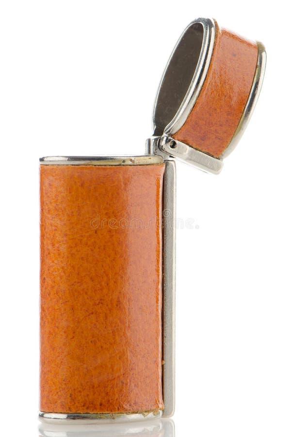Download Orange lighter case stock image. Image of fuel, open - 27378289