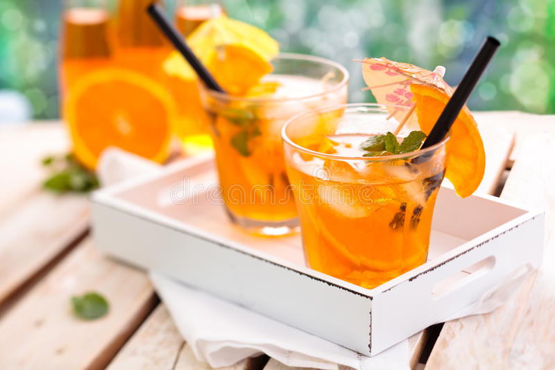 Orange Limonade stockbilder