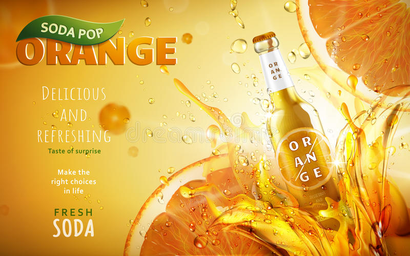 Orange Limonadeanzeige lizenzfreie abbildung