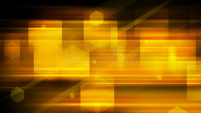 Orange lineare Abstraktion mit geometrischen Linien und Formen, 3d übertragen, computererzeugter Hintergrund lizenzfreie abbildung