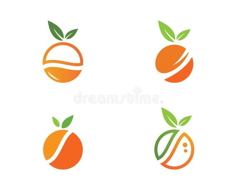Orange logo design royalty free illustration