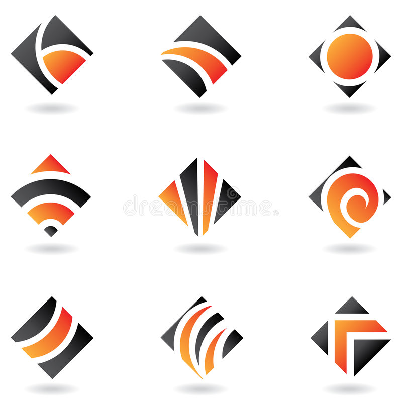 Orange logos royalty free illustration