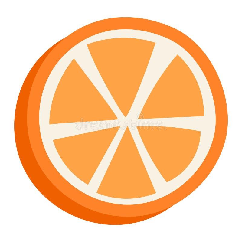 Orange lokalisierte Vektorillustration lizenzfreie abbildung
