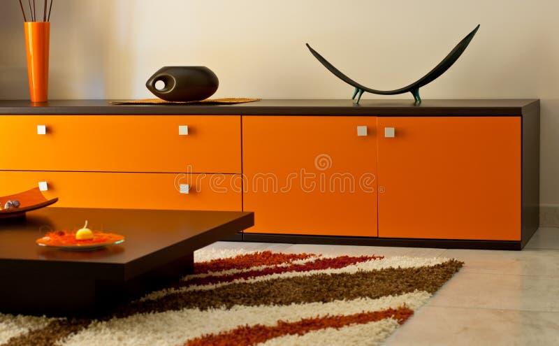 Orange Lounge room royalty free stock photo