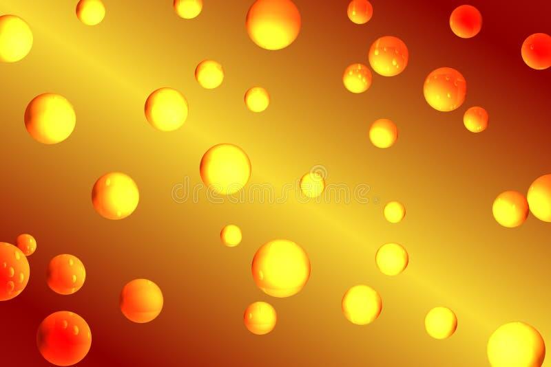 Orange Luftblasen Lizenzfreie Stockfotografie