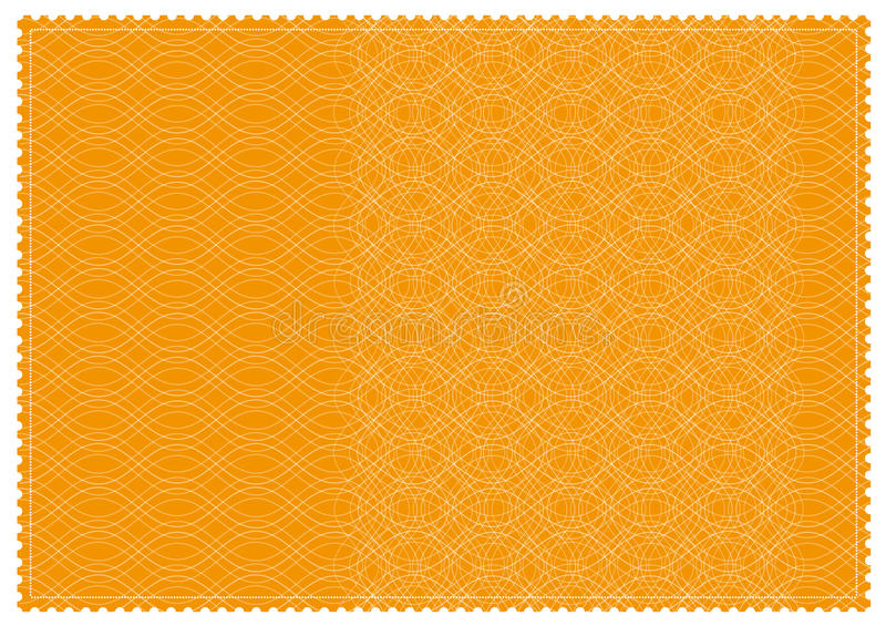orange mönstrad jobbanvisning royaltyfri fotografi