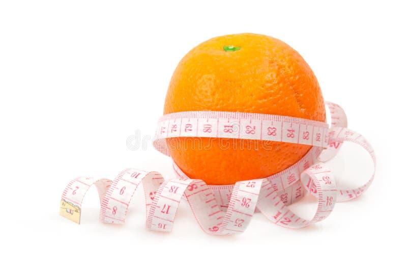 Orange maß das Messinstrument stockbilder