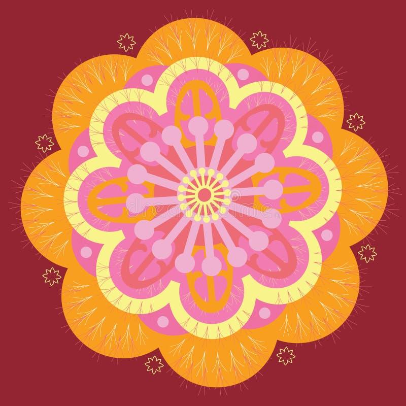 Download Orange mandala stock vector. Image of beauty, ornament - 27511604