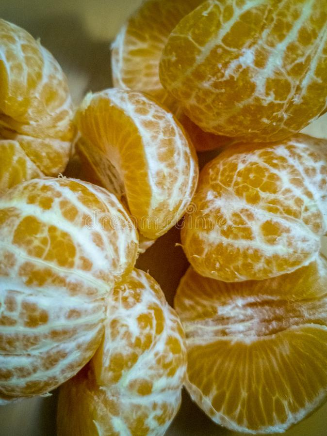 Orange Mandarinensegmente stockbild