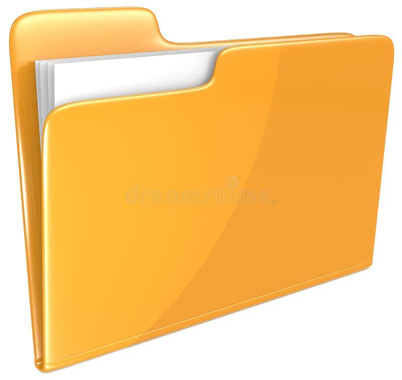 Orange mapp. royaltyfri illustrationer