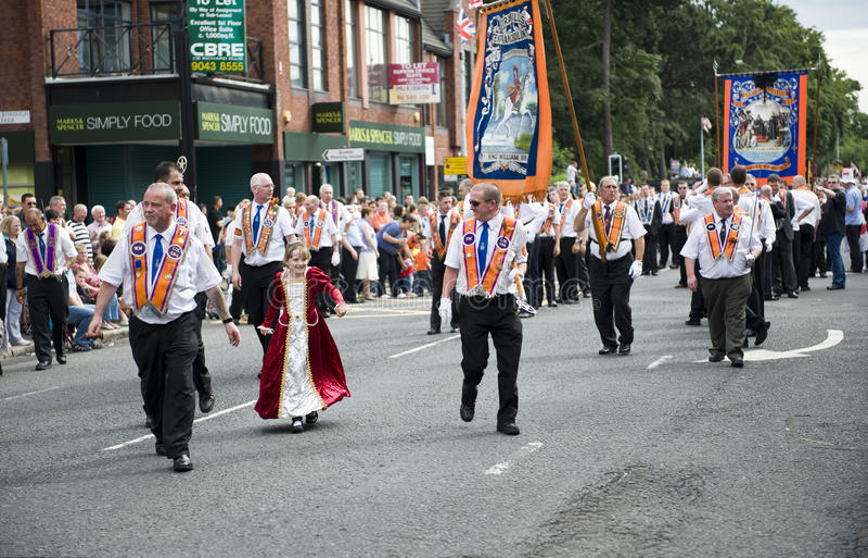 Orange march 2010, Belfast royalty free stock photos