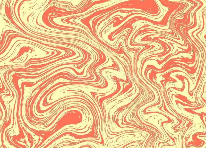 Orange marmortexturvektor royaltyfri illustrationer
