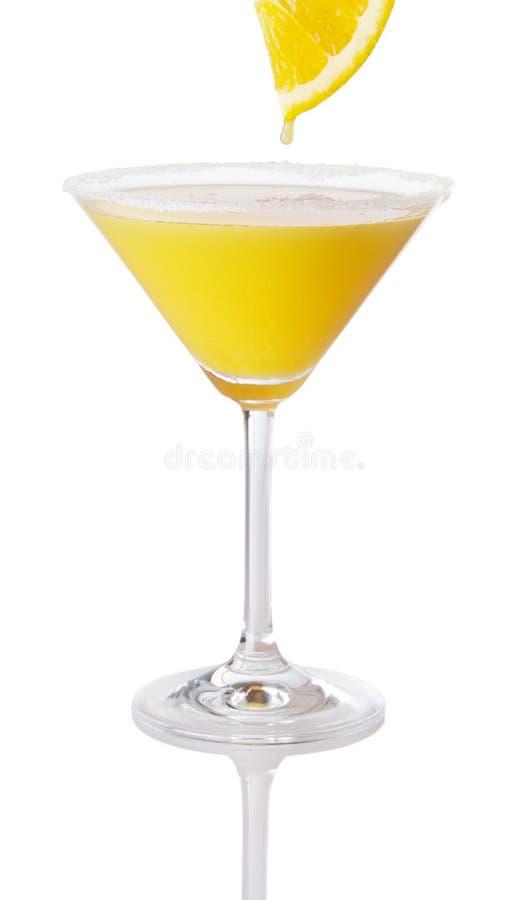 Orange Martini With Fresh Orange Juice. Drip royalty free stock image