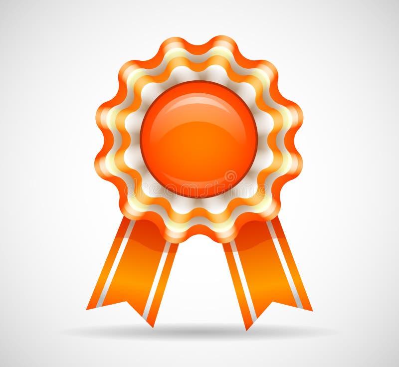 Download Orange medal stock illustration. Image of agreement, golden - 33701140