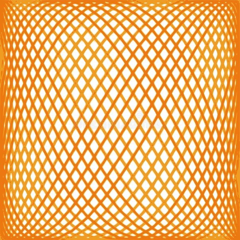 Orange mesh pattern stock illustration
