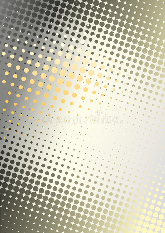 Orange Metall punktiert Hintergrund lizenzfreie abbildung