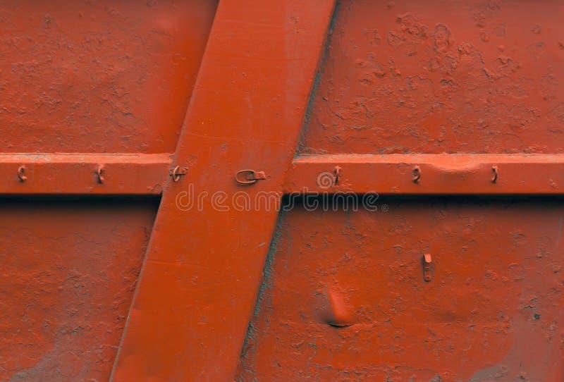 Orange Metallwandbeschaffenheit lizenzfreie stockfotografie