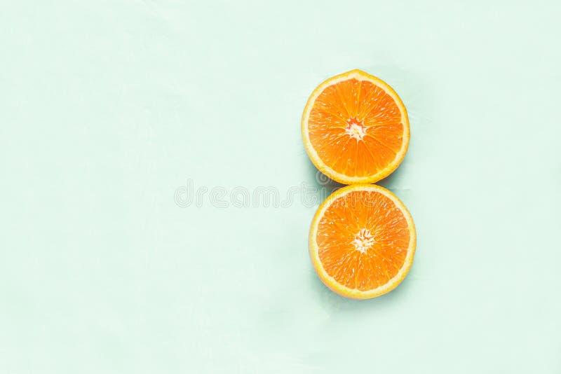 Orange on a minimalist background royalty free stock images