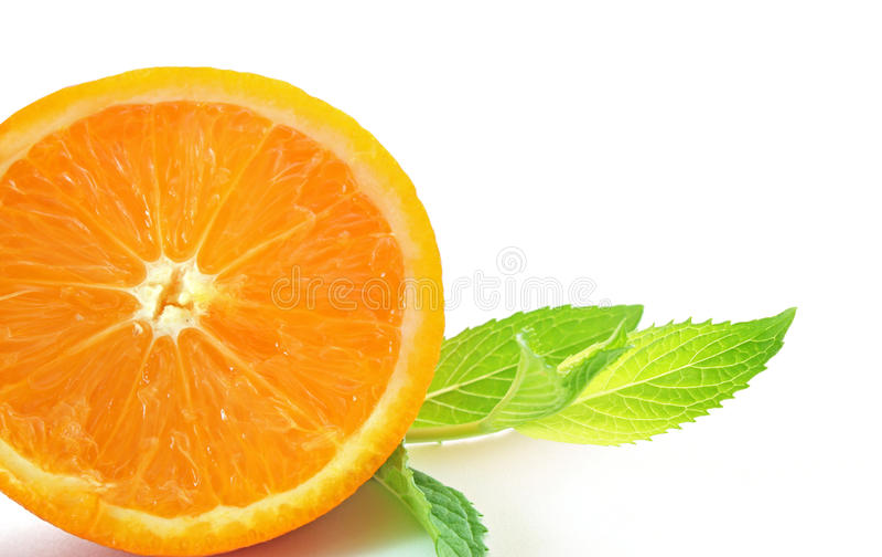 Orange and mint royalty free stock photo