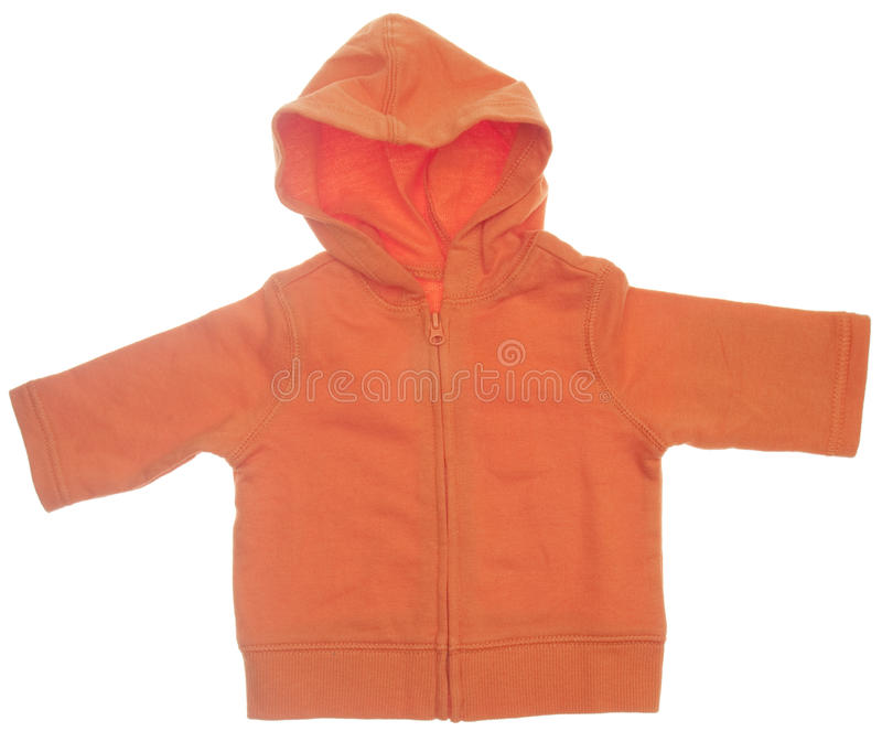 Orange mit Kapuze Sweatshirt stockfotografie