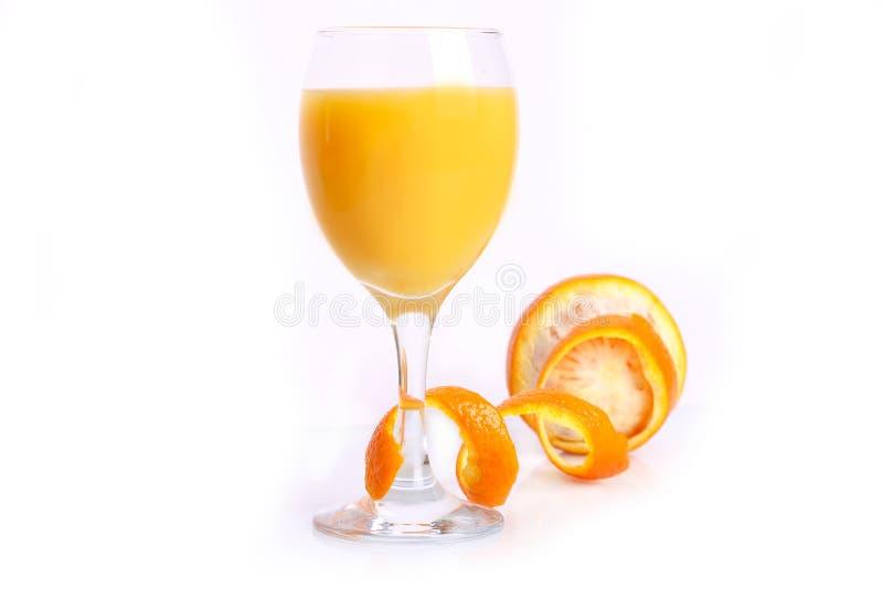 Orange mit Saft stockbilder