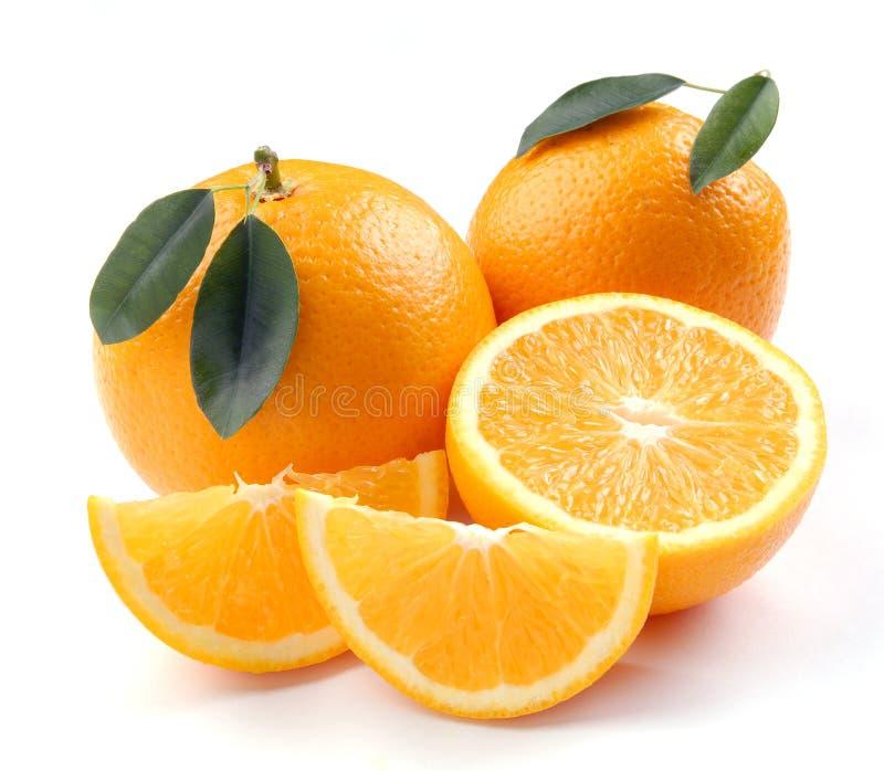 Orange mit Segmenten stockfotos