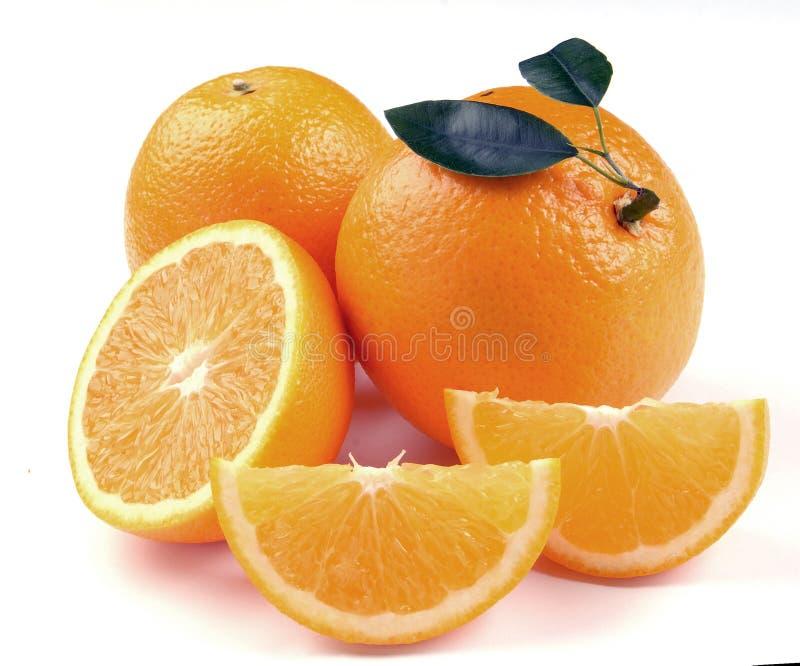 Orange mit Segmenten stockbilder