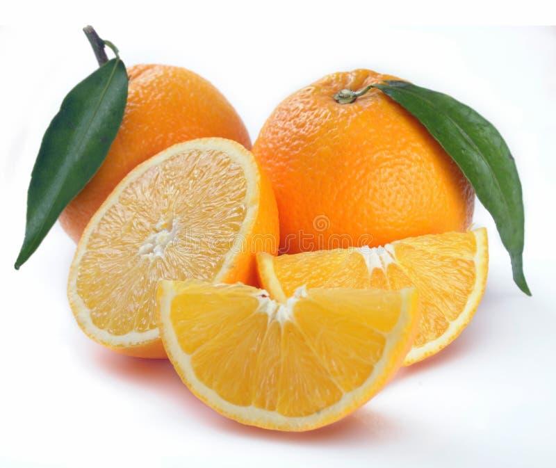 Orange mit Segmenten lizenzfreie stockfotos